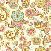 pic of psychedelic  - Turkish cucumber psychedelic seamless ornate pattern - JPG