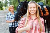 picture of horse girl  - Feeling superb - JPG