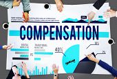 foto of budget  - Compensation Finance Budget Profit Salary Business Concept - JPG