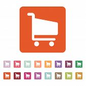 picture of cart  - The cart shoping icon - JPG