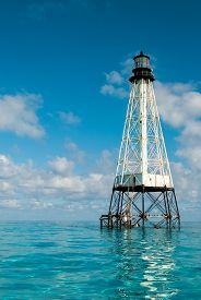 picture of alligator  - Alligator Reef Lighthouse in the Florida Keys