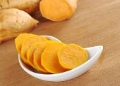 stock photo of batata  - Cooked sweet potato  - JPG