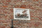 Plaque Of Fishermen Inenkhuizen In The Netherlands