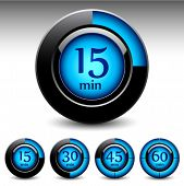 Timer display interfase. Vector