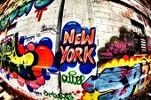 New York Graffiti Tag using Fish Eye Lens