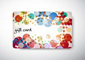 stock photo of greeting card design  - gift card  - JPG