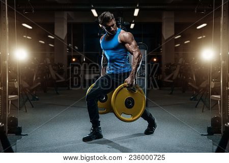 poster of Handsome Model Young Man Workout In Gym