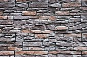 The Stone Wall Texture Background Natural Color.background Of Stone Wall Texture Photo.natural Stone poster