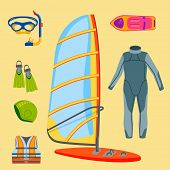 Fun Water Extreme Sport Kiteboarding Surfer Sailing Leisure Sea Activity Summer Recreation Extreme V poster