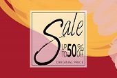 Sale Advertisement Banner On Hand Drawn Background With Rough Sale Lettering poster