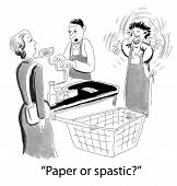 pic of perversion  - A clerk in a grocery store asking a customer her choice - JPG