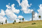 A Microwave And Other Telecommunications Towers On A Mountain Overlooking Ficksburg In The Free Stat poster