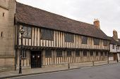 picture of william shakespeare  - The historic King Edward VI school in Stratford Upon Avon - JPG