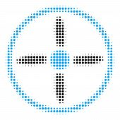 Drone Screw Halftone Vector Icon. Illustration Style Is Dotted Iconic Drone Screw Icon Symbol On A W poster