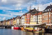 The Port Nyhavn In The City Copenhagen, Denmark. poster