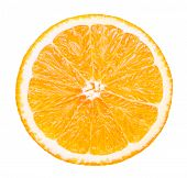 Isolated Orange Fruit. Slice Of Fresh Orange Isolated On White Background With Clipping Path poster