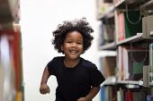 Happy Kids Lifestyle In The Library. Young People Explore Lifestyle In The Library. Development Of H poster