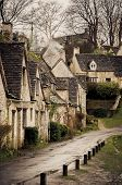 Village In Uk During A Winter Rainy Day poster