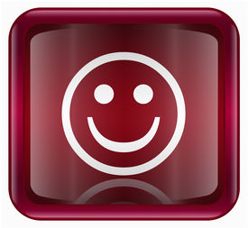 pic of smiley face  - Smiley Face red isolated on white background - JPG