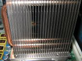 Modern Computer Cpu Cooling System With Heat Pipes. High-performance Air Cooler For Cooling The Hott poster