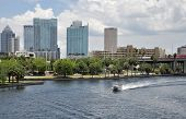 View of the Hillsborough River in Downtown Tampa