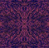 Psychedelic Trippy Colorful Fractal Mandala, Pink-violet Blue Gradient Color. 3d Effect. Stylish Car poster