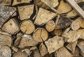 Wooden Logs, Beams, Firewood, Frame. Wooden Log Wooden Background. Fuel. Close Up poster
