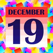 December 19 Icon. For Planning Important Day. Banner For Holidays And Special Days. Nineteenth Of De poster