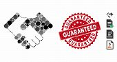 Mosaic Agreement Icon And Rubber Stamp Seal With Guaranteed Text. Mosaic Vector Is Composed With Agr poster