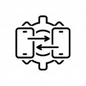 Black Line Icon For Construction_technical-support Technical Support Consulting poster