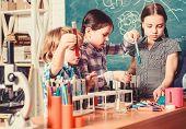 School Education. School Chemistry Experiment. School Club. Explaining Chemistry To Kid. Fascinating poster