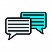 Speech Bubbles Vector Icon Sign. Dialogue Vector Icon. Dialog Vector Icon Sign. Chat Vector Icons Si poster