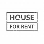 Home For Rent Rubber Stamp Vector Image. Rubber Stamp With Text Home For Rent Inside, Vector Illustr poster