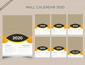 Calendar 2020 Templates In Vecto Design Illustration 3 poster