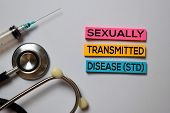 Sexually Transmitted Disease (std) Text With Isolated On White Board Background. Medical Concept poster