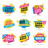 Cashback Labels. Cash Back Banners, Return Money From Purchases, Money Refund Badges, Business Warra poster