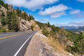 Peak To Peak Highway Through The Rocky Mountains Near Estes Park, Colorado poster