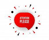 Attention Please. Banner Badge, Offer Sticker. Special Offer Sign. Important Information Symbol. Att poster