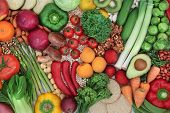 Low glycemic health food for a diabetic diet with foods high in vitamins, minerals, anthocyanins, an poster