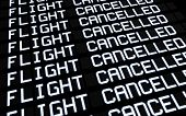 Airport Board Cancelled Flights
