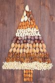 foto of pecan tree  - Set of different varieties of nuts in the form of a tree - JPG