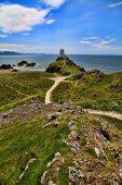foto of anglesey  - Ynys Llanddwyn or Llanddwyn Island is a small tidal island off the west coast of Anglesey - JPG
