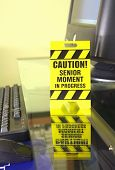 Caution office sign