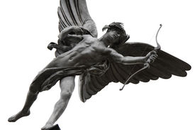 picture of ero  - This statue of a winged archer poised with his bow is known as The Statue of Eros the God of Love - JPG