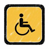 stock photo of crippled  - Sign for beware cripple cross according to various locations - JPG