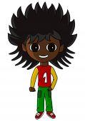 picture of chibi  - Kid drawn in SD super deformed or chibi manga style - JPG