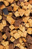 image of hardtack  - background from dried bread pieces close up - JPG