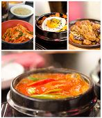 image of kimchi  - Collage from photographs of korean cuisine  - JPG