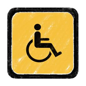 foto of crippled  - Sign for beware cripple cross according to various locations - JPG