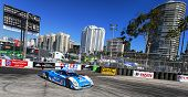 Long Beach, CA - Apr 11, 2014:  The Telcel Chip Ganassi Racing car practices through the turns at th